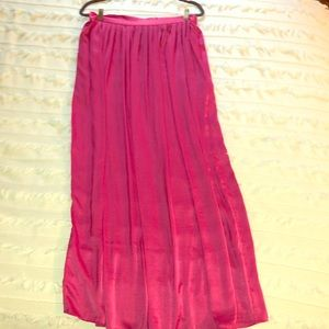 BCBG Hot Pink Maxi Skirt
